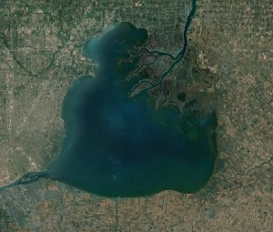 satelite View of Lake St. Clair, Michigan